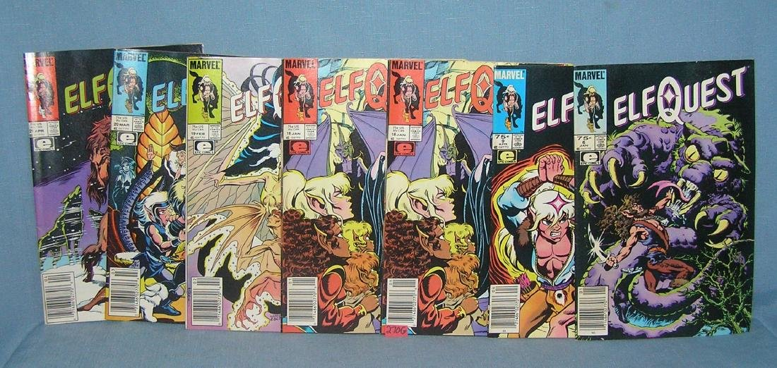 Group of vintage Marvel Elfquest comic books