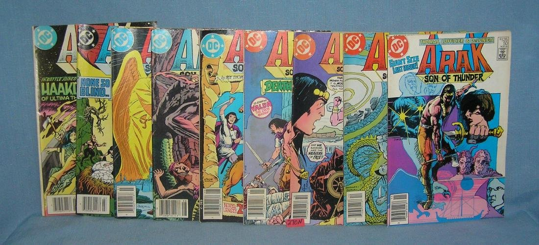 Group of 9 vintage DC comic books
