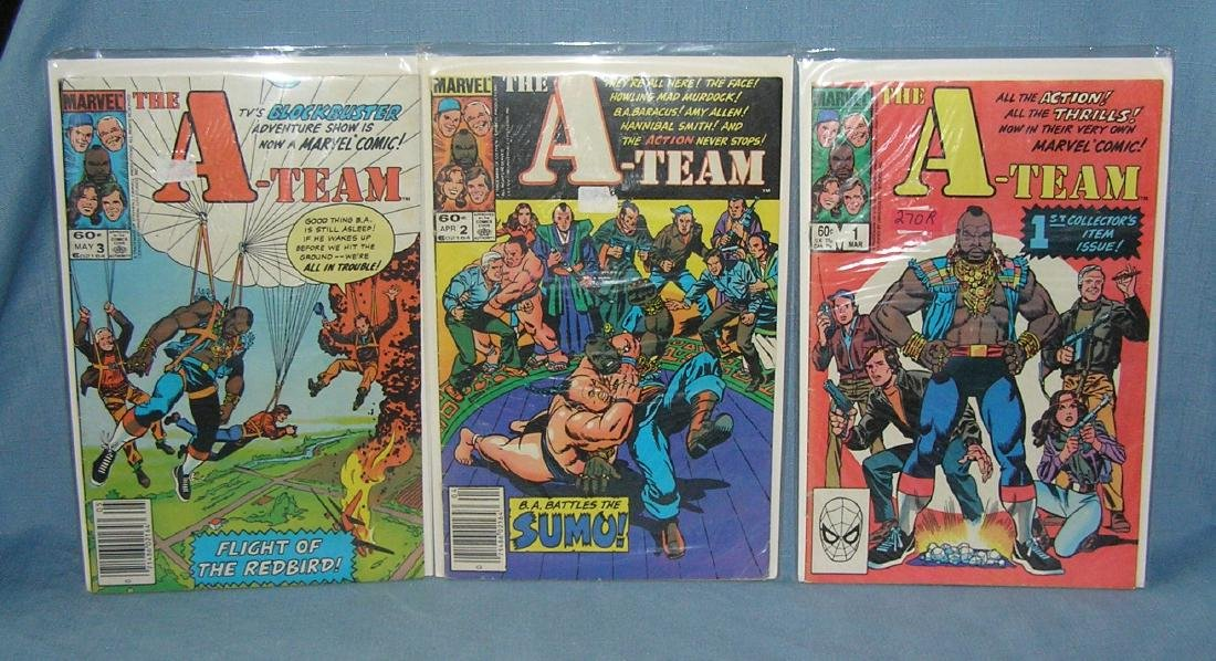 Group of 3 vintage A Team comic books