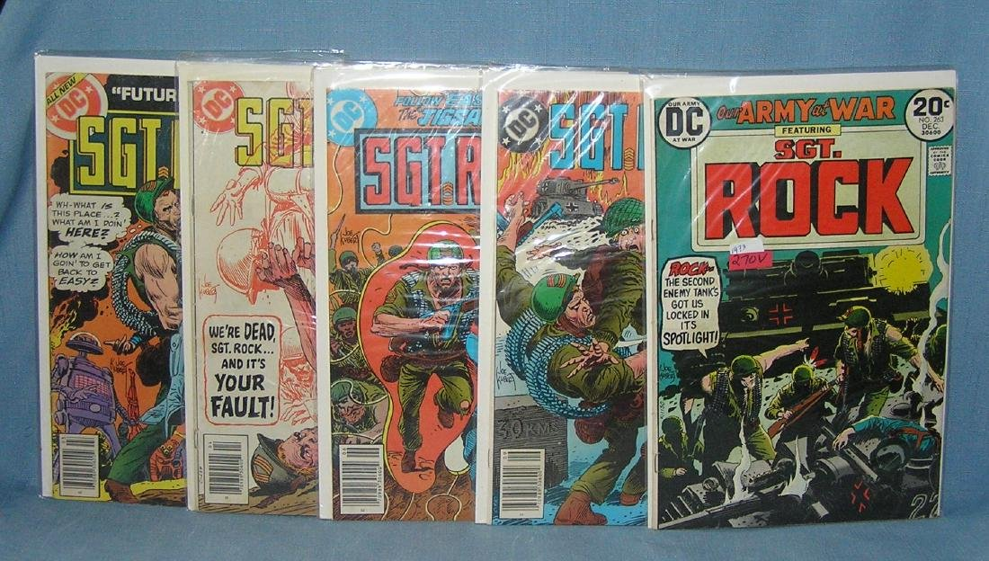 Group of vintage Sgt Rock comic books
