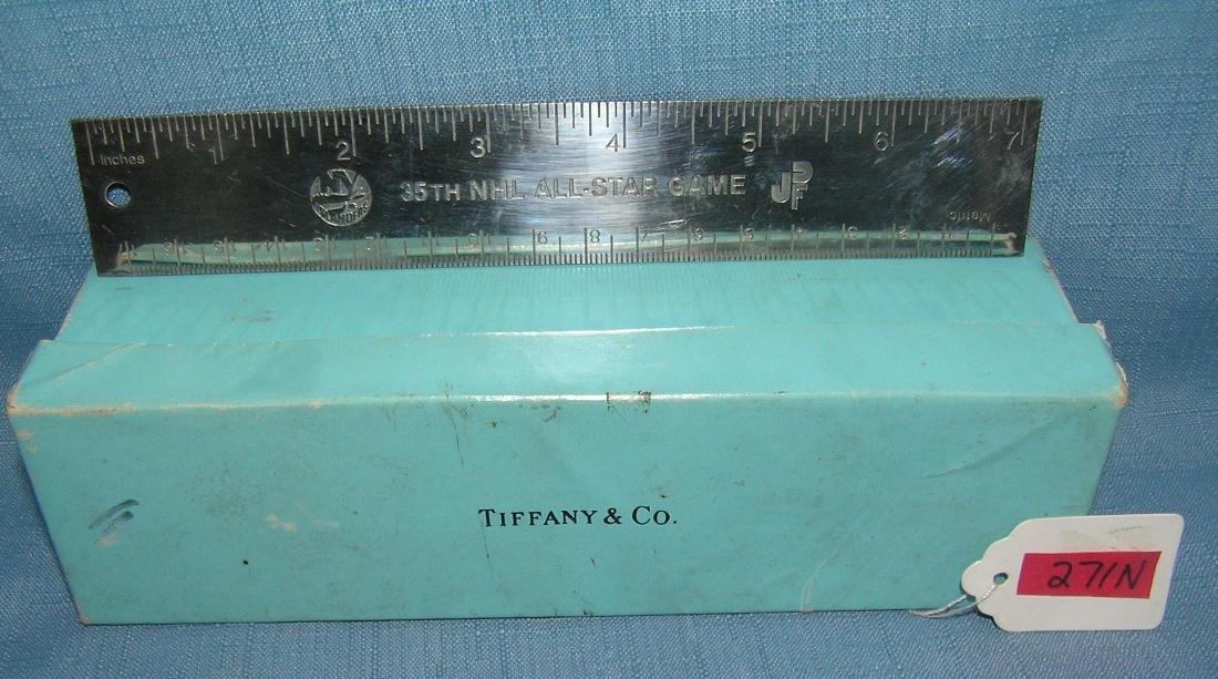 Tiffany silver NY Islanders presentation ruler
