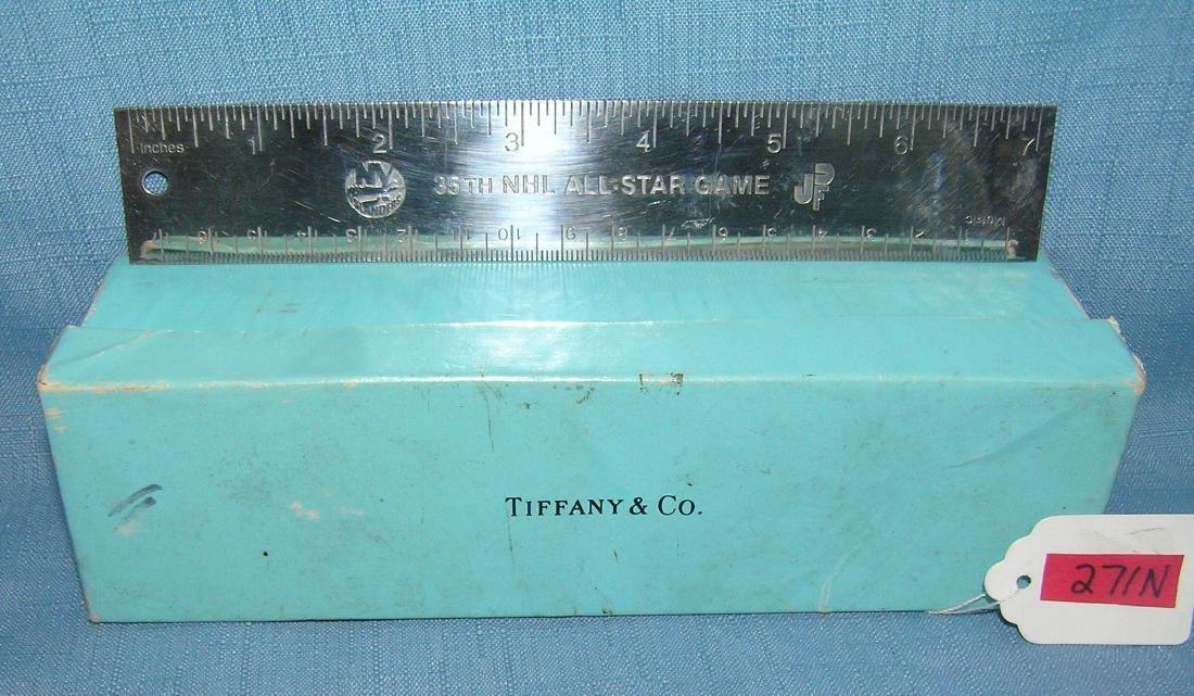 Tiffany silver NY Islanders presentation ruler - 2