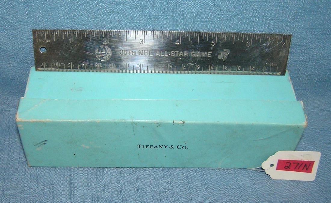 Tiffany silver NY Islanders presentation ruler - 3