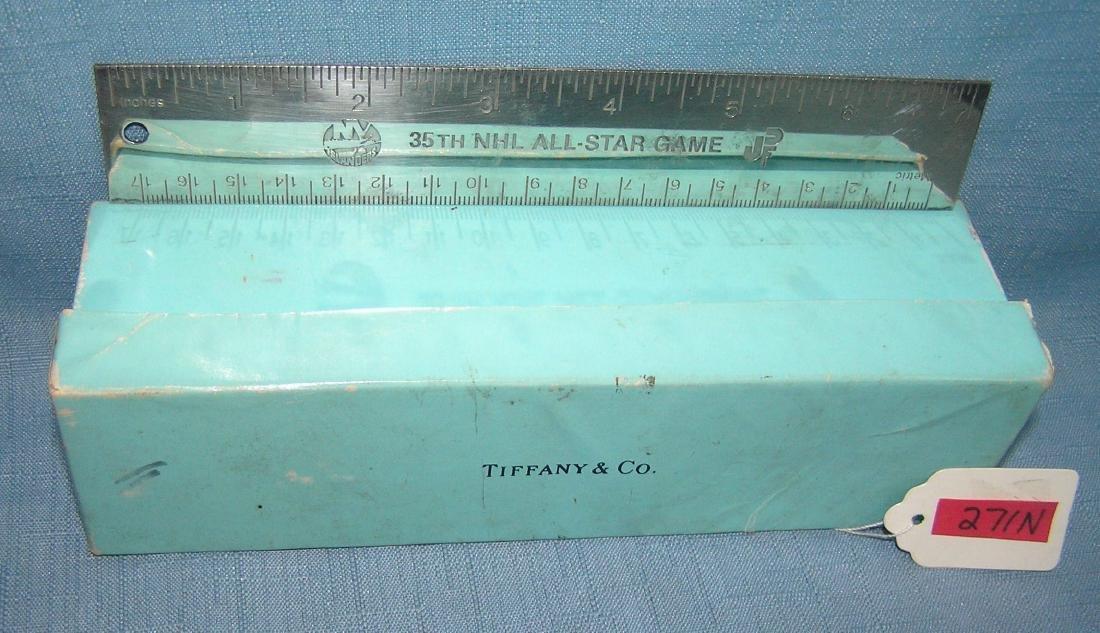 Tiffany silver NY Islanders presentation ruler - 4