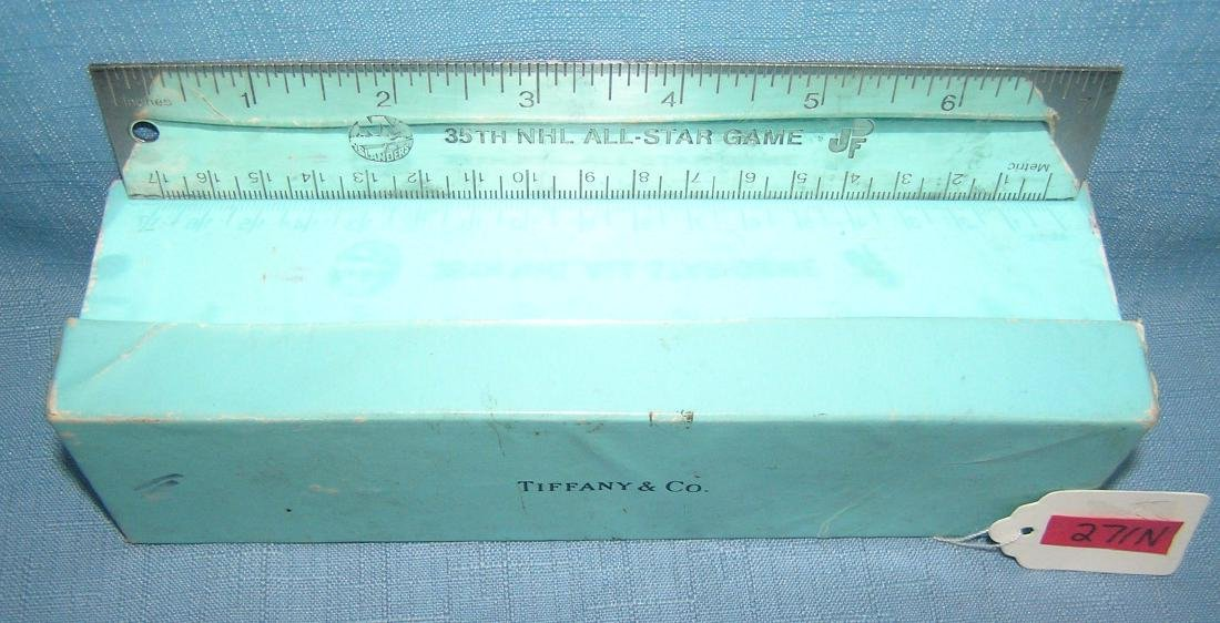 Tiffany silver NY Islanders presentation ruler - 5