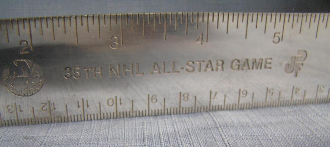 Tiffany silver NY Islanders presentation ruler - 8