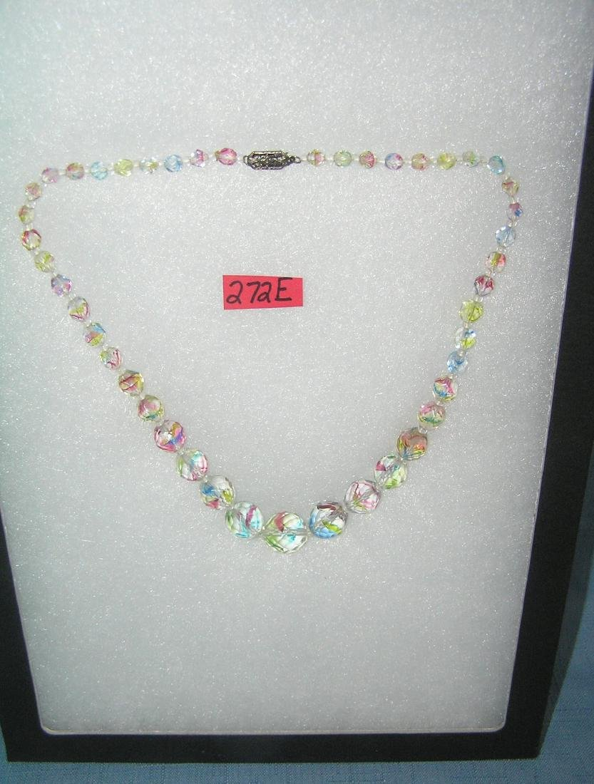 Quality costume jewelry colored stone necklace