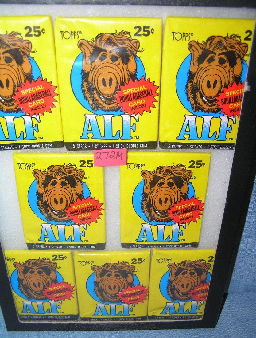 Group of vintage Alf unopened packs of collector cards