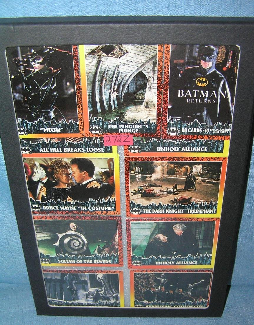 Group of vintage Batman cards