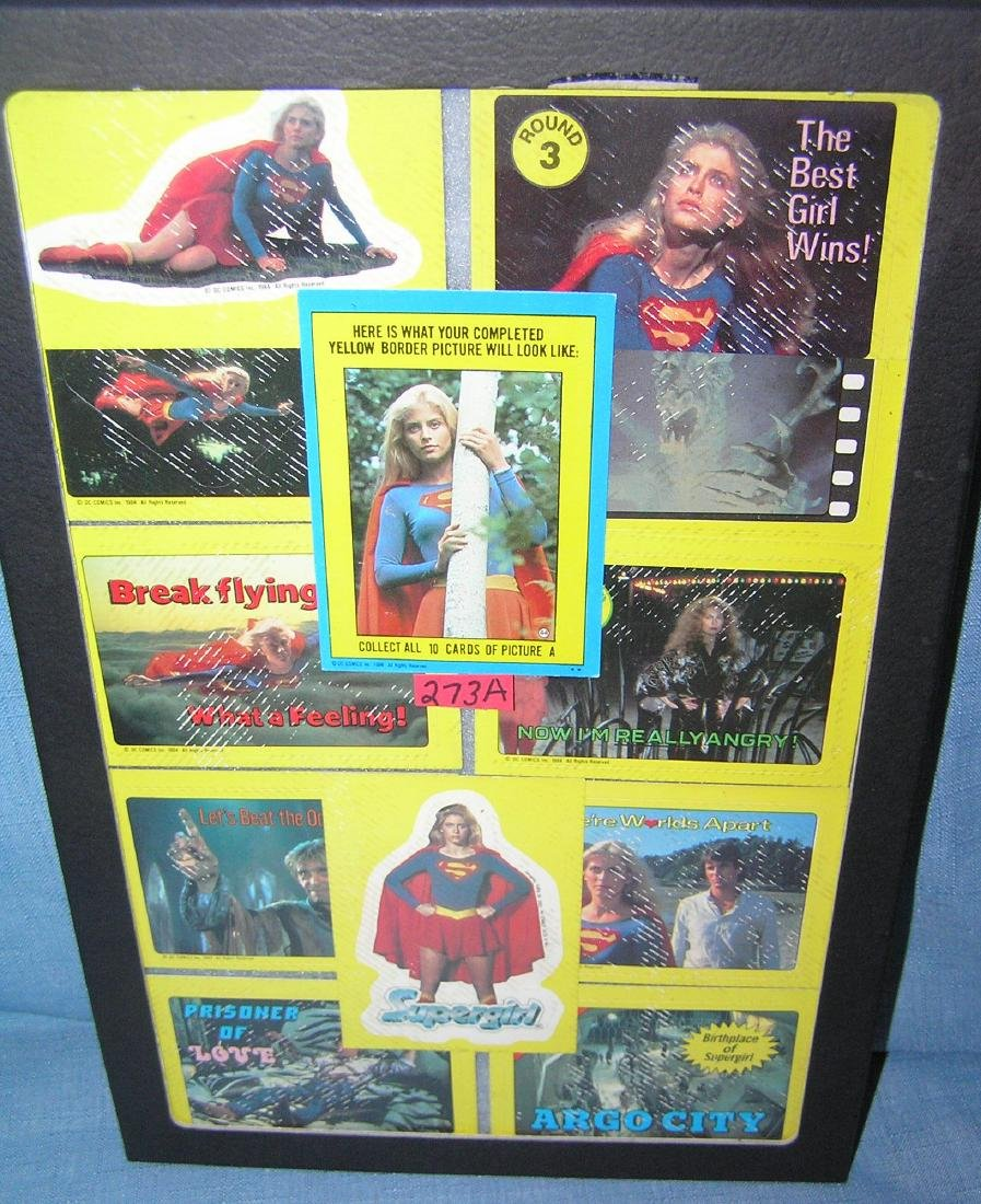 Group of vintage Supergirl cards