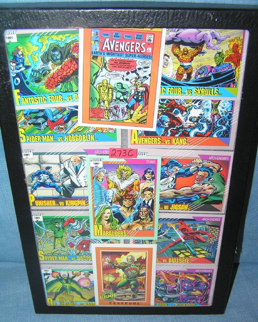 Group of vintage Superhero and action figure cards
