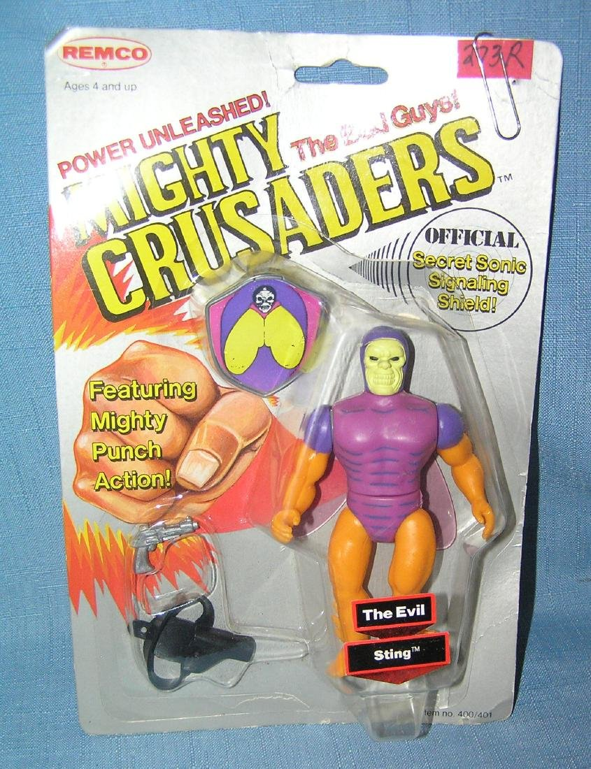 Vintage Mighty Crusaders The Evil Sting Bad Guy action