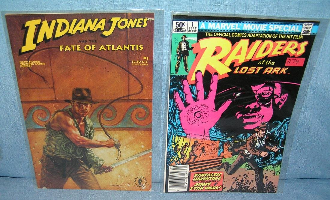 Pair of Indiana Jones first edition comic books