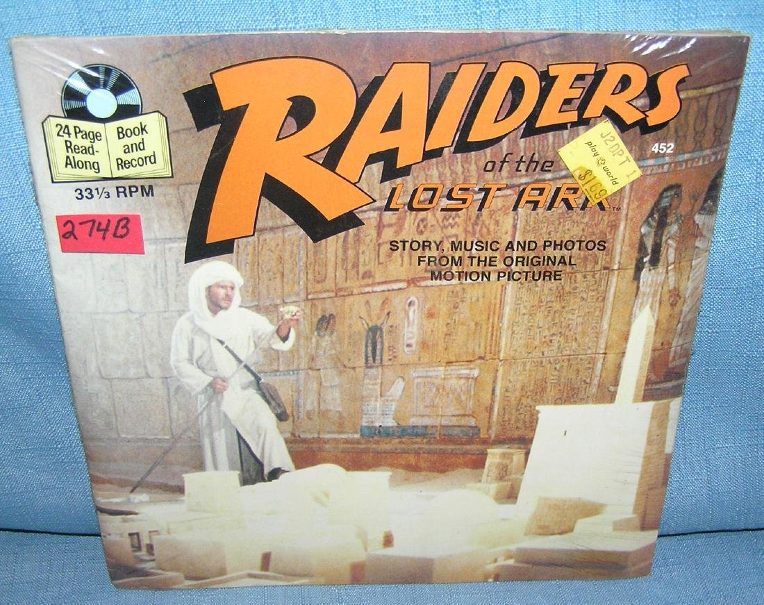 Indiana Jones story book and record set