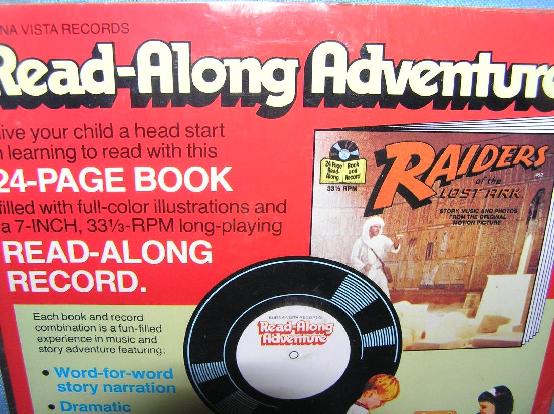 Indiana Jones story book and record set - 2