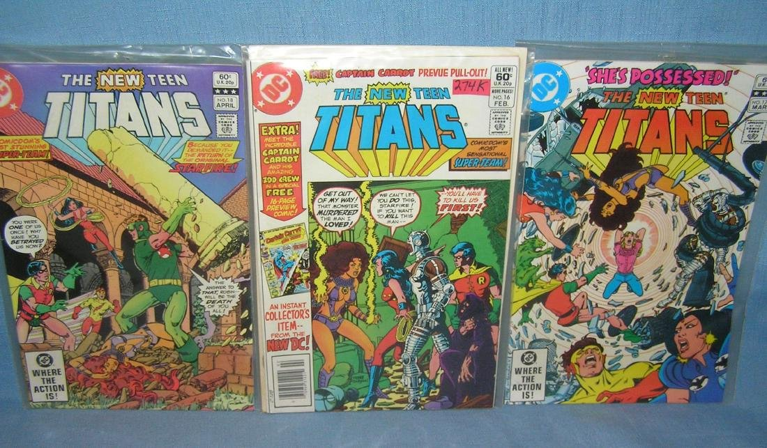 Group of the New Teen Titans comic books
