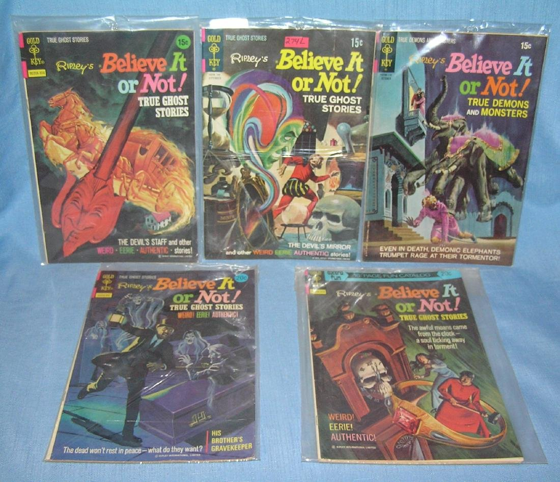Group of vintage Ripley's Believe it or Not comic books