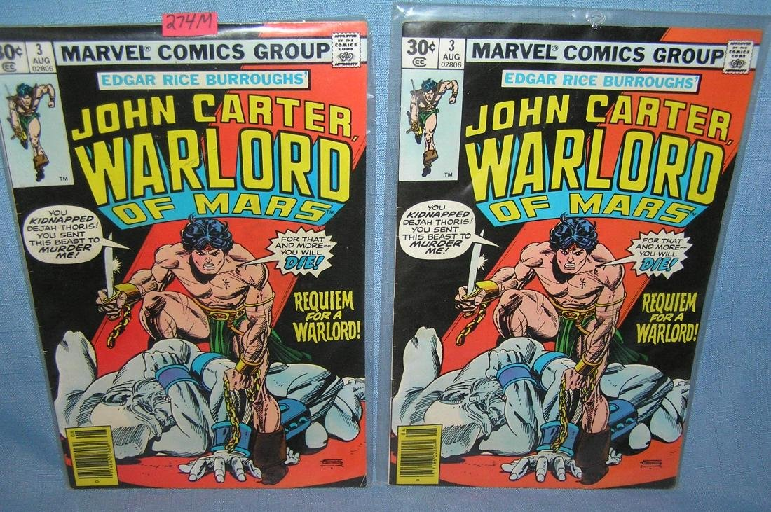 Pair of John Carter Warlord of Mars comic books