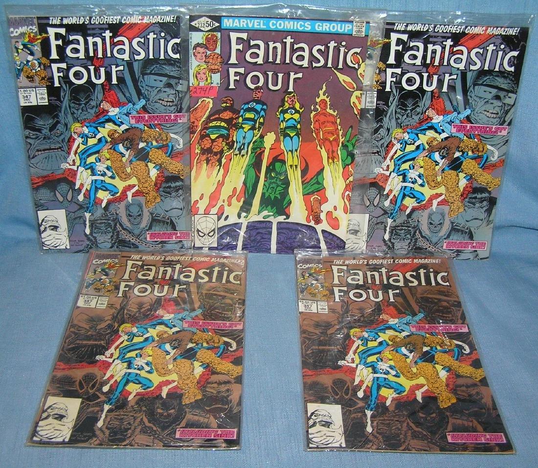 Group of vintage Fantastic 4 comic books