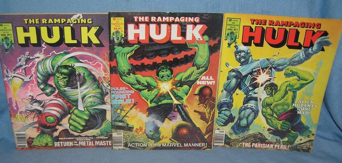The Rampaging Hulk issue numbers 1, 2 and 3