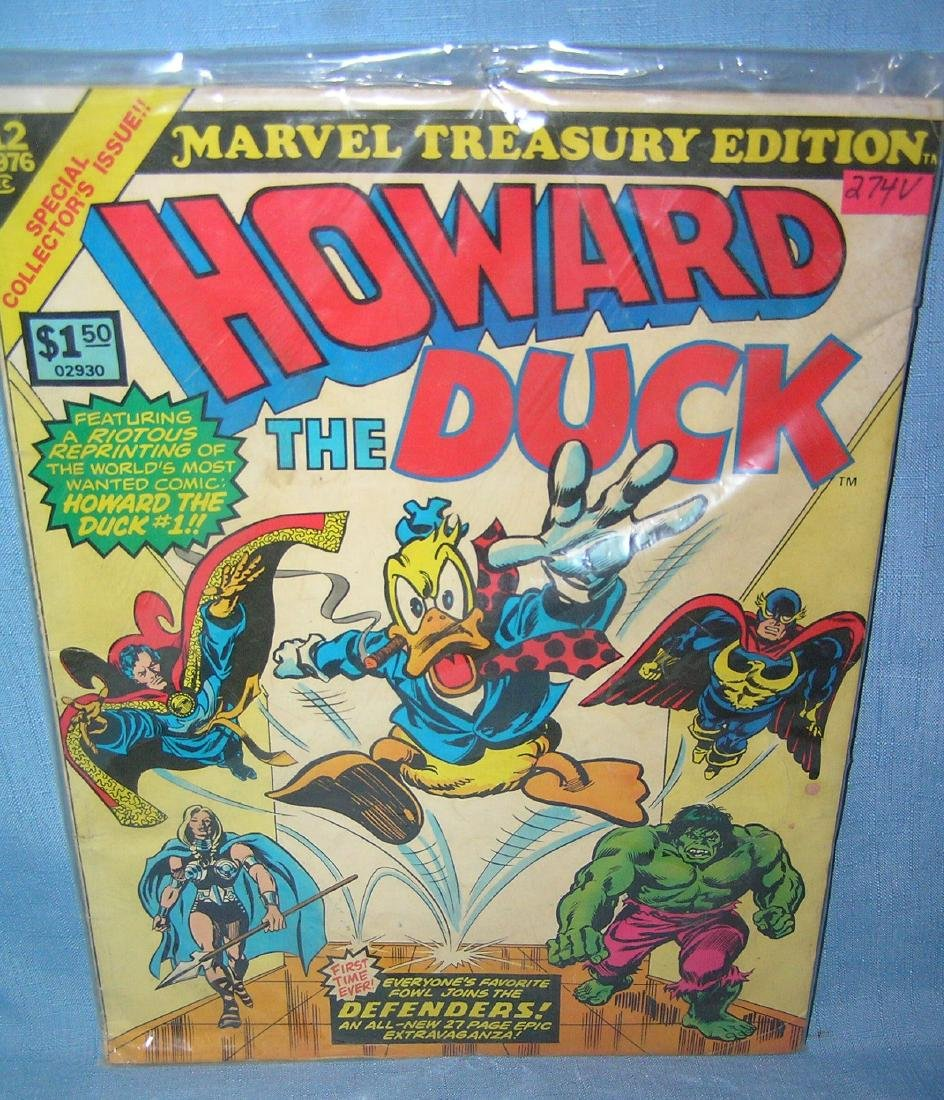Vintage Marvel Howard the Duck oversized comic book
