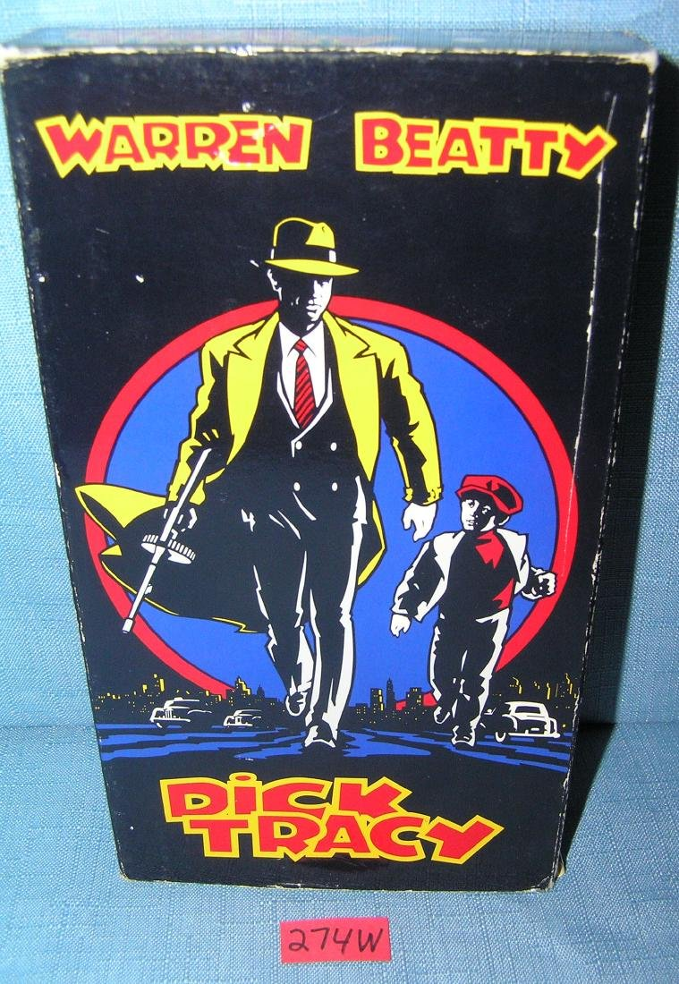 Vintage Dick Tracy VHS movie video