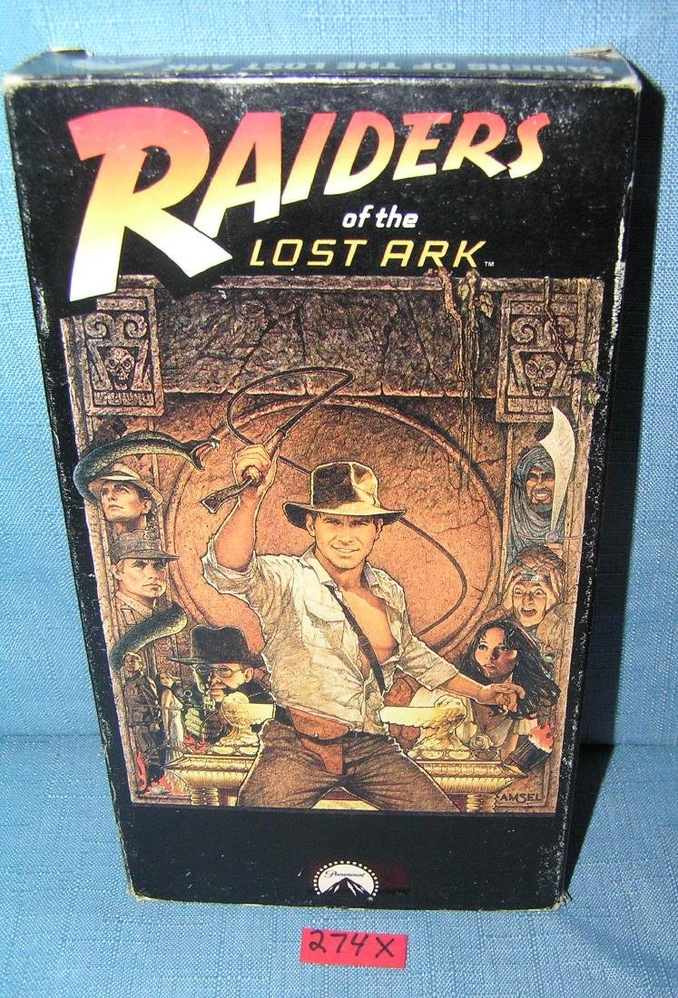Vintage Raiders of the lost arc VHS movie video