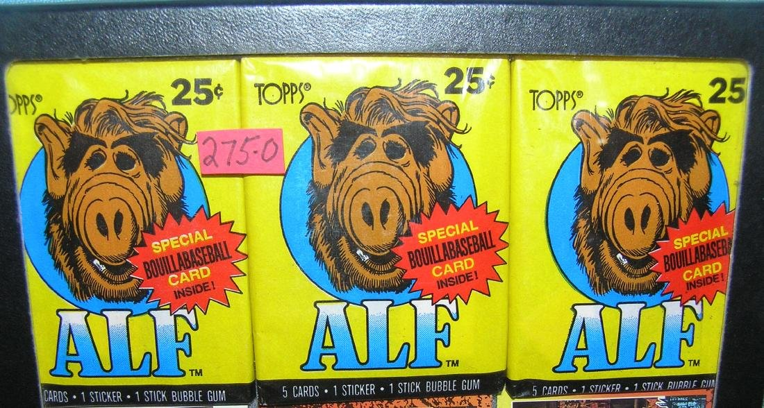 Group of 3 vintage unopened Alf nonsports card packs