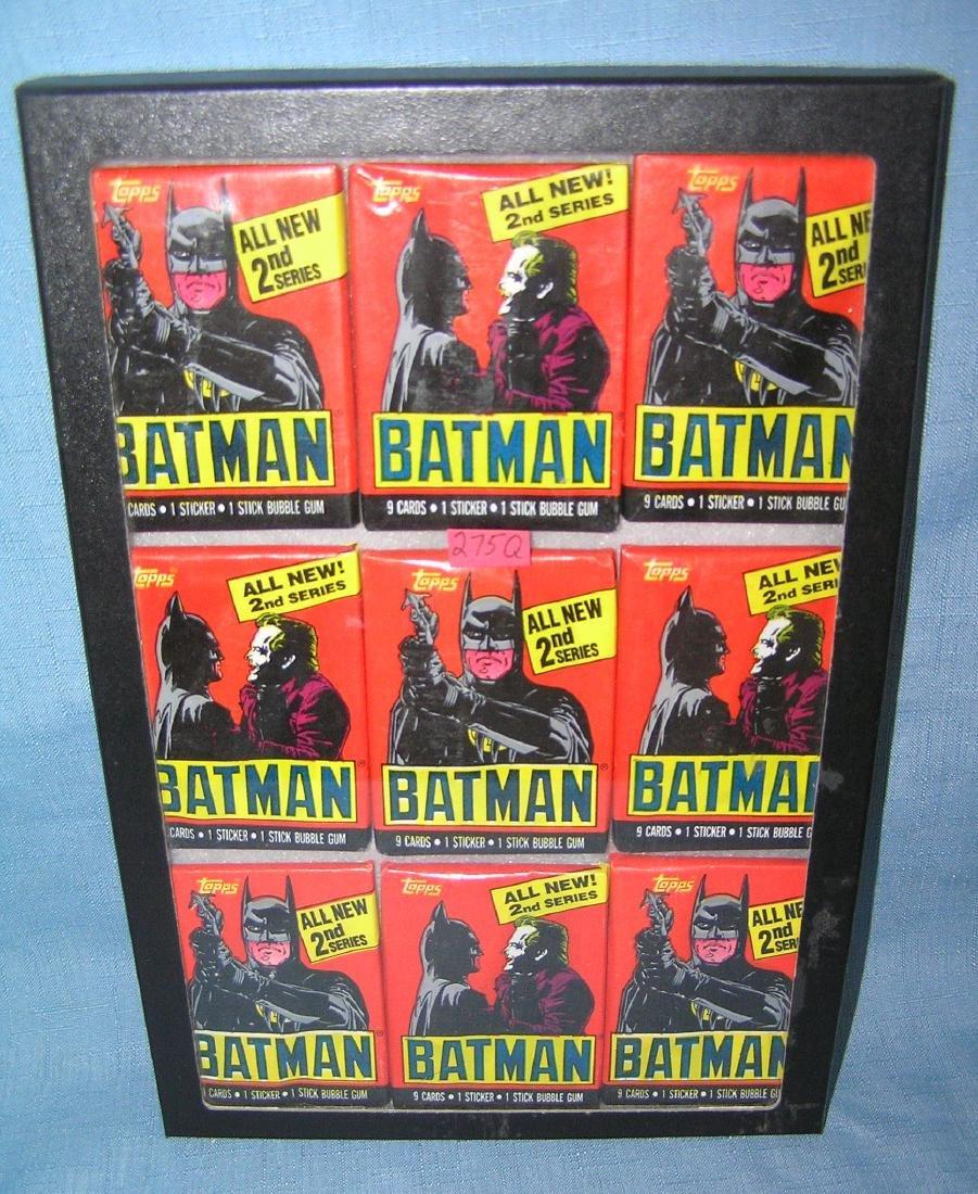 Group of vintage Batman unopened card packs