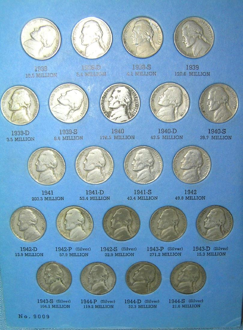 Jefferson nickel collection - 6