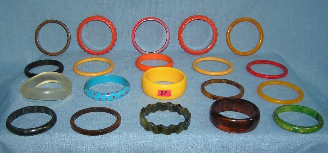 Vintage Bakelite and Lucite bracelets