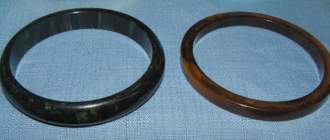 Vintage Bakelite and Lucite bracelets - 2