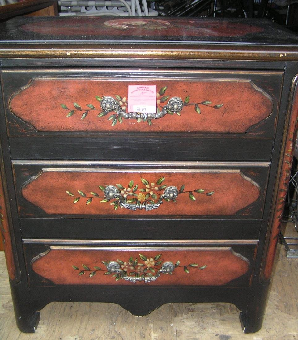 High quality paint decorated 3 drawer night stand