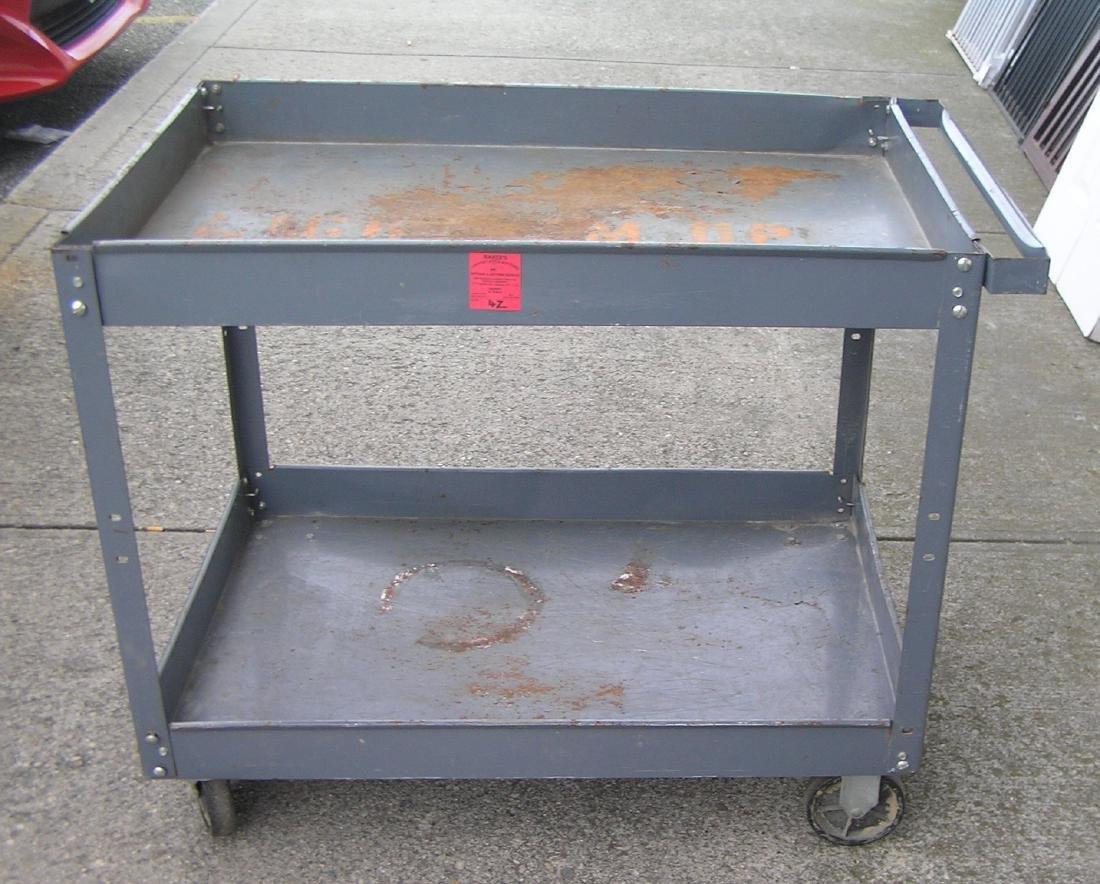 Industrial metal shop cart
