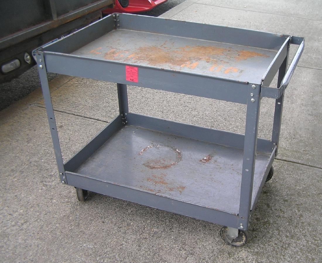 Industrial metal shop cart - 2