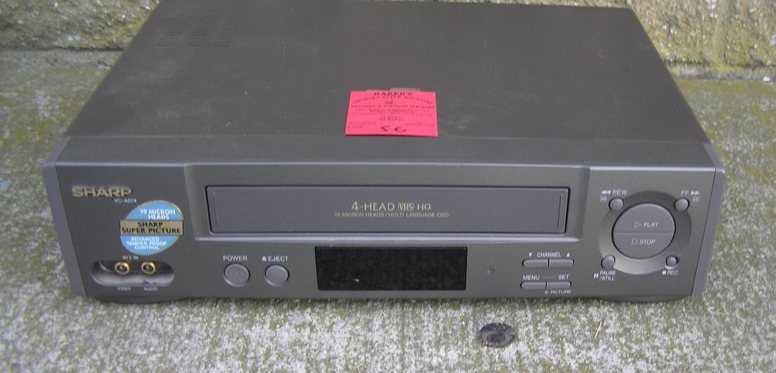 Sharp 4 Head VHS movie tape player