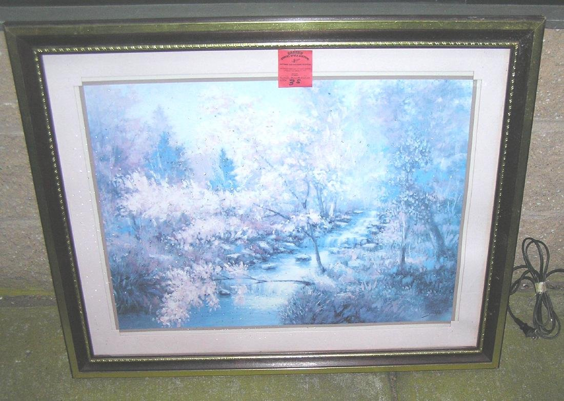 Professionally matted and framed artist signed print