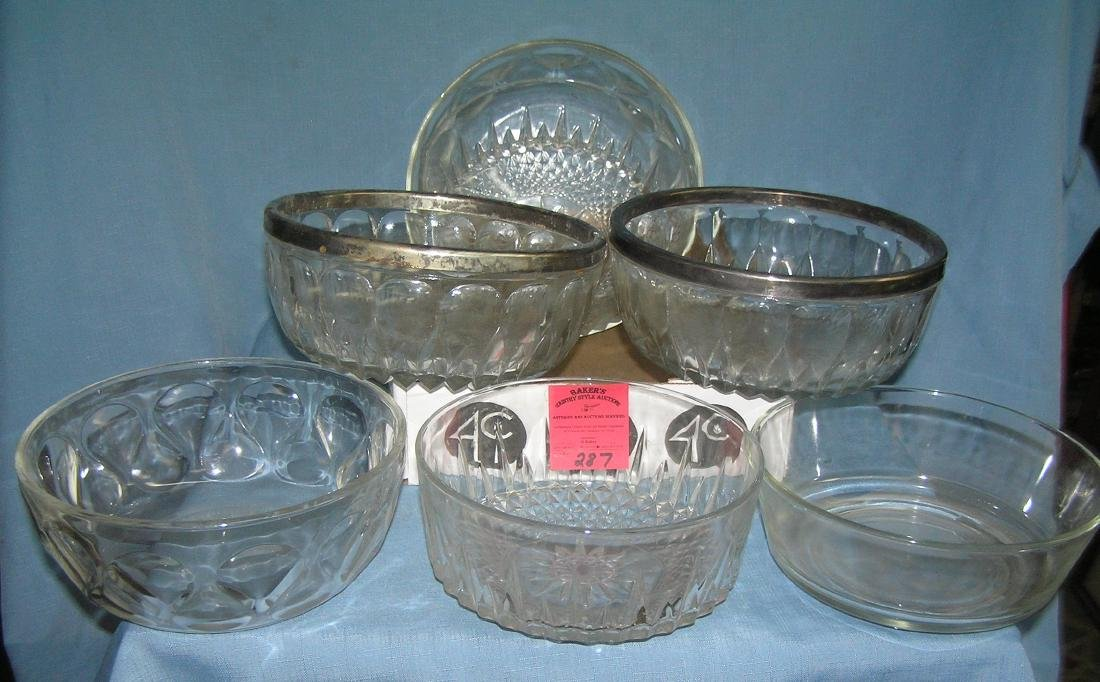 Large box of estate bowls and crystal