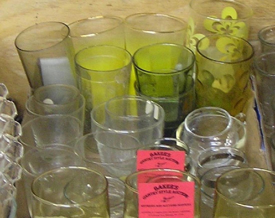 Large box of vintage glasses