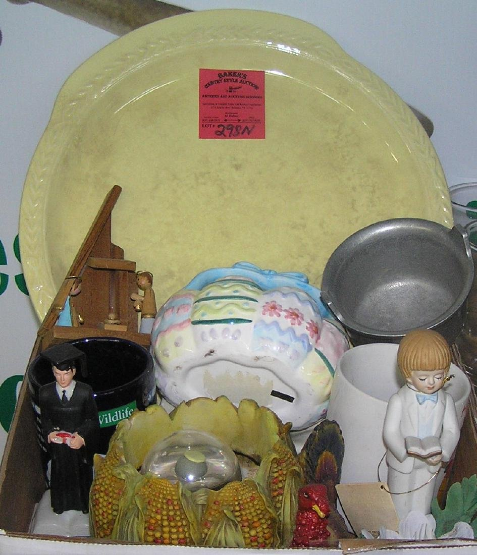 Box full of vintage estate collectibles