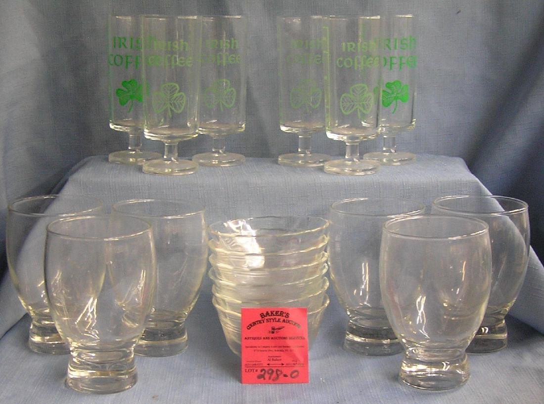 Box full of vintage estate glassware