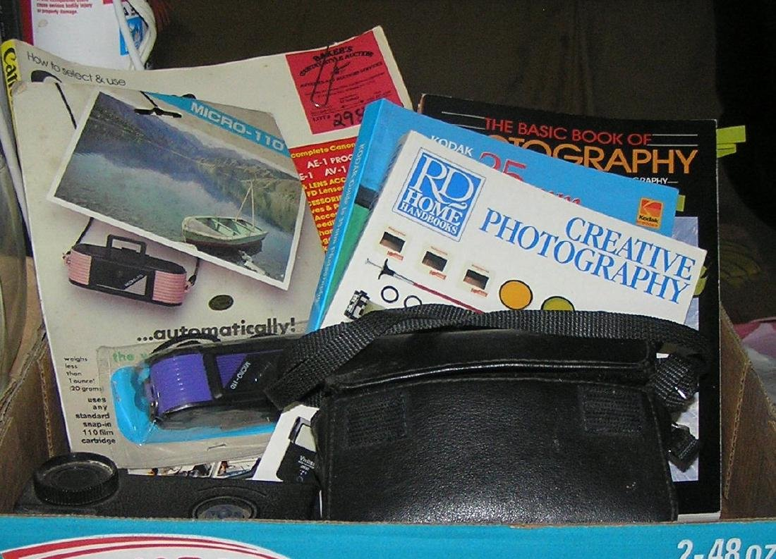 Box full of photography items