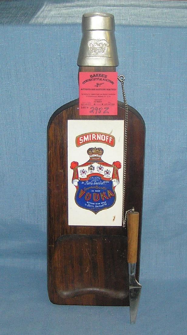 Vintage Smirnoff advertising cutting board