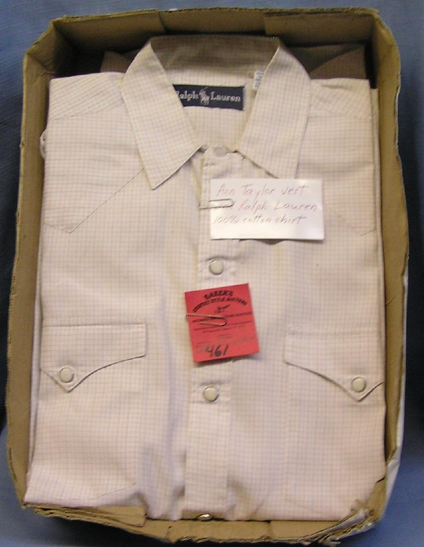 Anne Taylor vest and Ralph Lauren 100% cotton shirt