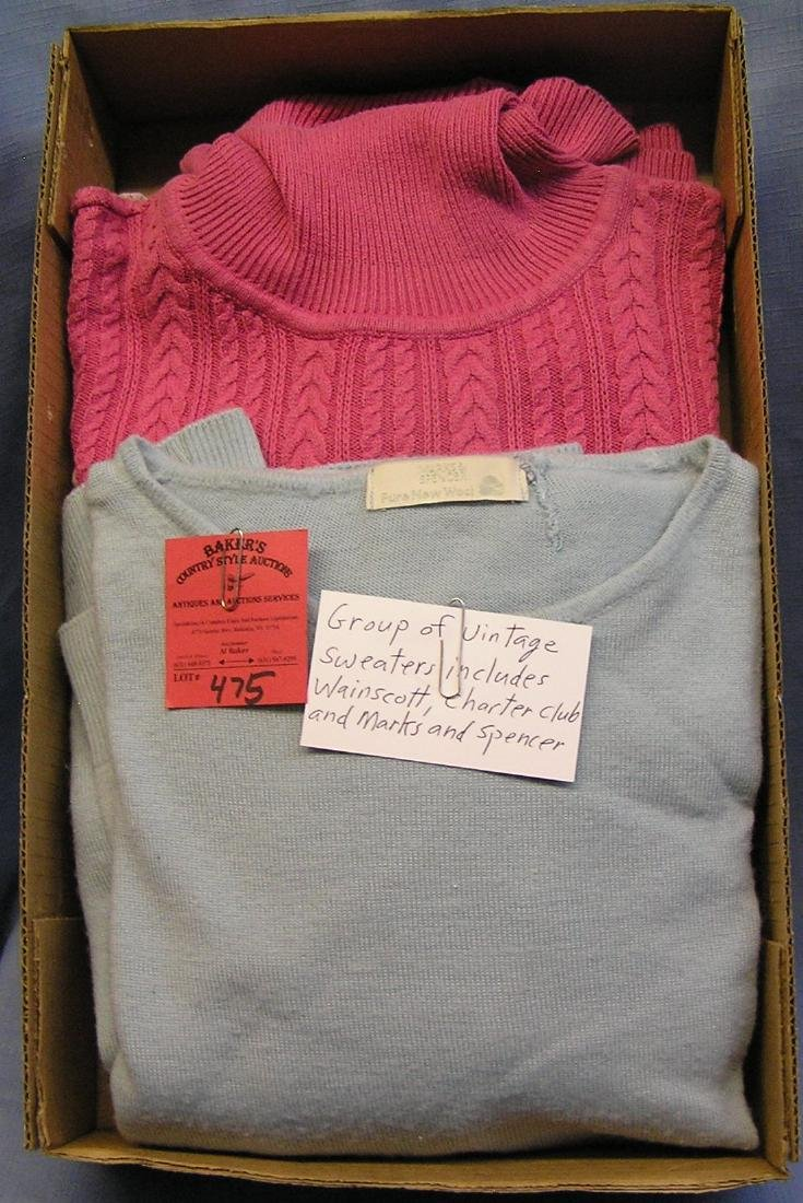 Group of vintage sweaters