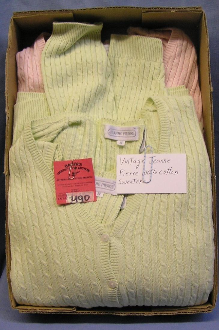 Vintage sweaters by Jeanne Pierre 100% cotton