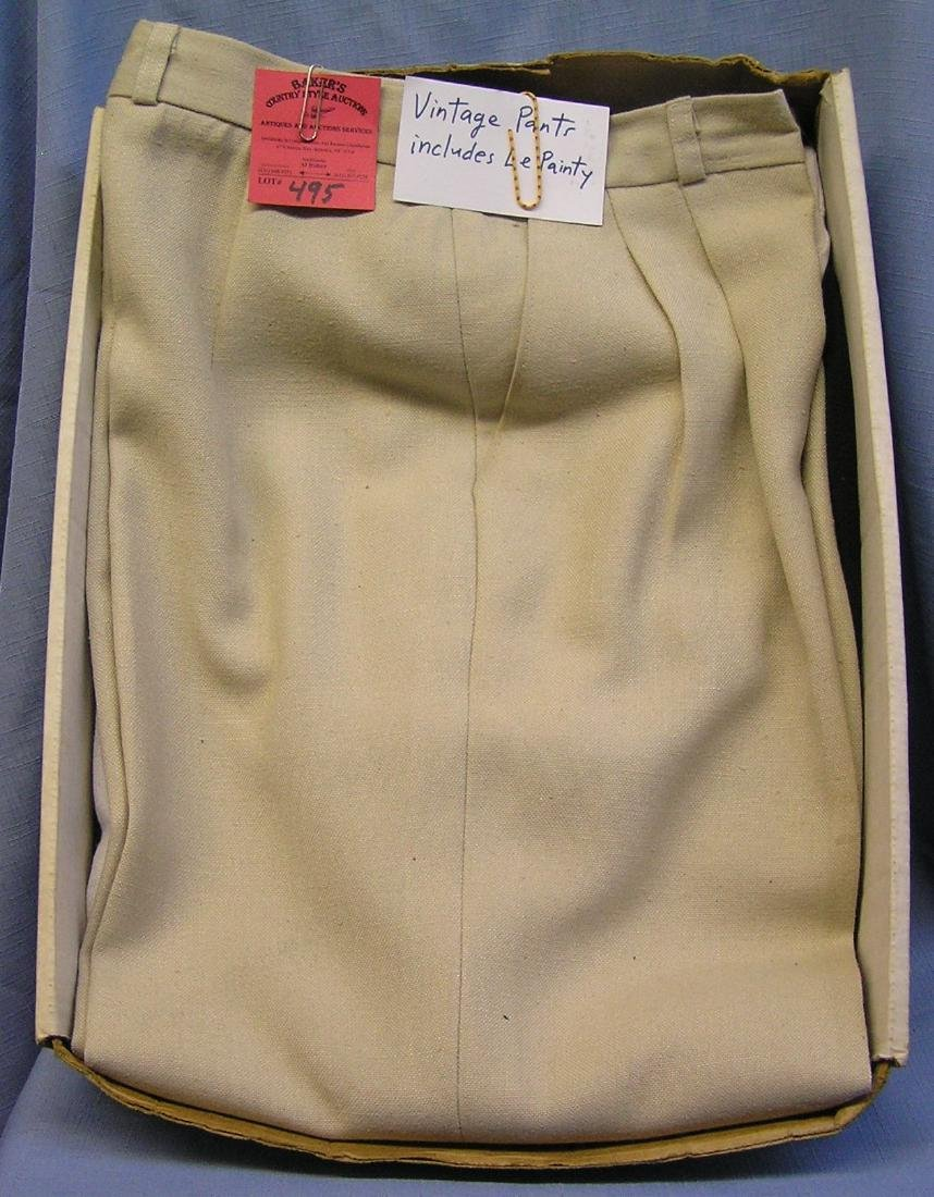 Group of vintage pants includes Le Painty