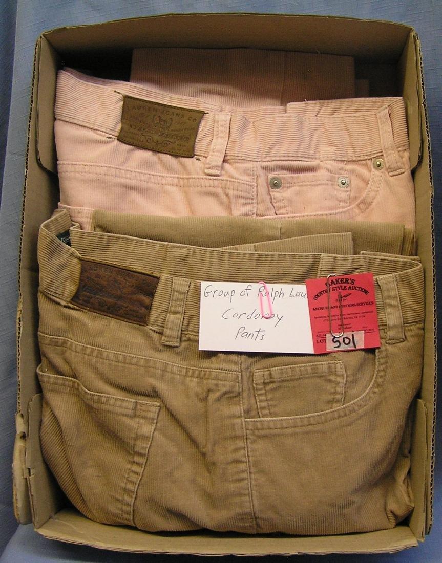 Corduroy pants by Ralph Lauren