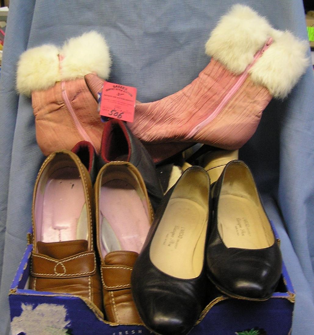 Box of vintage ladies shoes