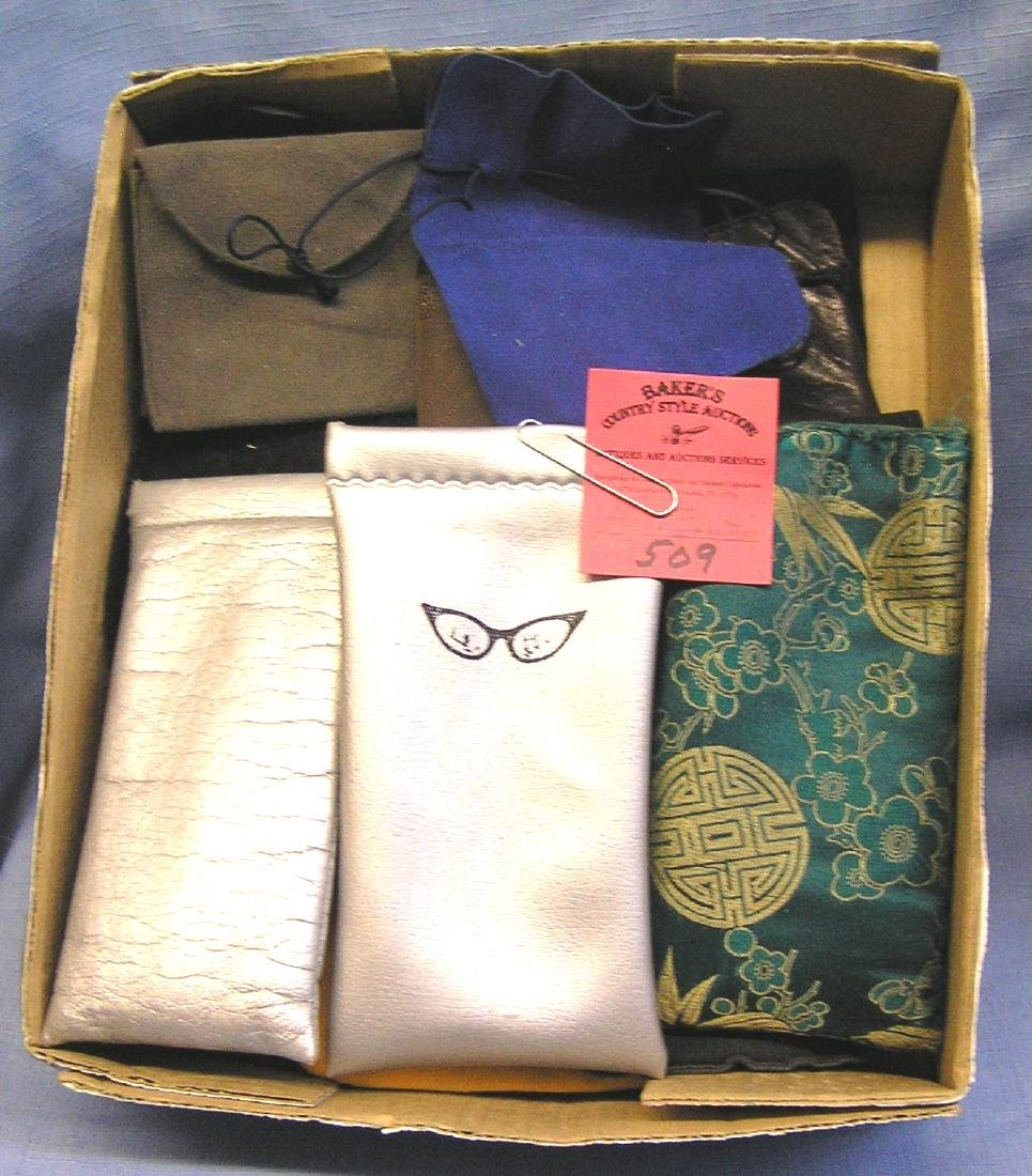Vintage eye glass cases, pouches and more